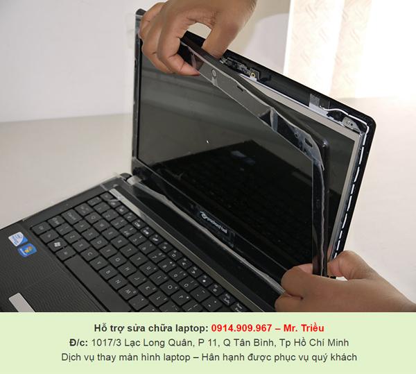 Khách hàng có nhu cầu làm sạch và thay màn hình laptop cần tới địa chỉ nào ở TP.HCM